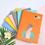 Kpop BTS Bangtan Boys Notebook New Hand-painted version Notebook Faux Leather Diary Student Supplies