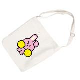 Kpop BTS Shoulder Bag Bangtan Boys New Korean Edition Simple Cartoon Cute Student Crossbody Storage Bag