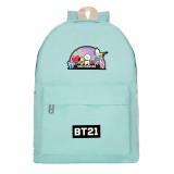 Kpop BTS School bag Bangtan Boys New Cartoon Cute Backpack Men and women College style Leisure Canvas bag