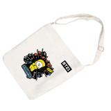 Kpop BTS shoulder bag Bangtan Boys crossbody bag new hand - painted storage bag simple student handbag