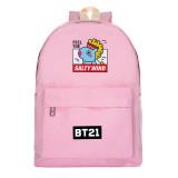 Kpop BTS Schoolbag Bangtan Boys Backpack New Burger Cartoon Student Casual Canvas Bag Wholesale