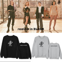Kpop MAMAMOO Album REALITY IN BLACK Round Neck Sweater Plus Velvet Thin Loose Top