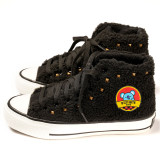 Kpop BTS Shoes Bangtan Boys New Canvas Shoes Lamb Wool Plus Velvet Thickened High-top Shoes