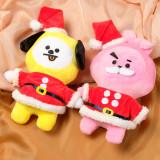 Kpop BTS Doll Bangtan Boys Christmas Doll New Cartoon Plush Doll Student Toy Wholesale