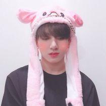Kpop BTS Bangtan Boys Same Hat Rabbit Ears Headdress Cute Pinch Ears Will Move Rabbit Hat