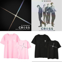 Kpop  WINNER Album Cross T-Shirt Korean Loose Bottoming Shirt Short Sleeve Top