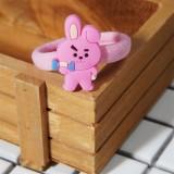 Kpop BTS Bangtan Boys Hair Rope Cartoon Cute Doll Hair Ring New Student Headdress Tie Hair CHIMMY KOYA TATA