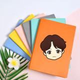 Kpop BTS Notebook Bangtan Boys Seoul Q Version Cartoon Cute Notebook Imitation leather Diary Student Supplies