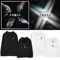 Kpop WINNER Album CROSS Hoodie Sweatshirt Plus Fleece Thin Korean Loose Fall Winter Coat