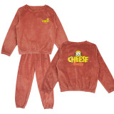 Kpop BTS Bangtan Boys Sleepwear Hand-painted Edition Cute Coral Fleece Pajamas Night Pants Warm Two-Piece Set