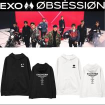 Kpop EXO Sweatshirt Series 6 OBSESSION Hooded Sweatshirt Jacket Plus Velvet Thin Spring and Autumn Hoodie