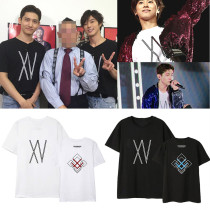 Kpop TVXQ T-shirt 2019 XV concert Shim Changmin Jeong Yoonho same short-sleeved T-shirt Shirt