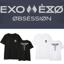 Kpop EXO 6 Sixth Series OBSESSION Peripheral T-shirt Korean Loose Short Sleeve Bottoming Shirt