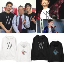 Kpop TVXQ 2019 XV Concert Sweatshirt Jeong YoonhoShim Changmin With The Same Hooded Sweater