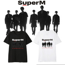 Kpop Super M Same T-shirt Korean Loose Short-sleeved BaekHyun KAI  Lee Taemin