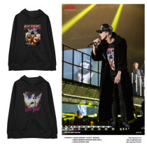 Kpop G-DRAGON Concert with Hooded Sweater Plus Velvet Thin Section Street Fashion Jacket