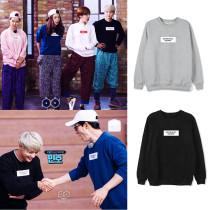Kpop SHINee Sweatshirt Min Ho RunningMan Kim Jong Kook Yoo Jae Suk the Same Round Neck Sweater Sweater Loose Spring and Autumn Top