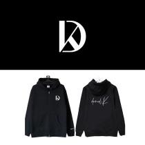 Kpop WANNA ONE Sweatshirt KANG DANIEL Concert Zipper Sweater Zipper Cardigan Plus Velvet Autumn and Winter Coat