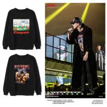 Kpop G-DRAGON Concert Same Paragraph Street Fashion Loose Round Neck Sweater Plus Velvet Thin men and women Spring and Autumn Wholesale