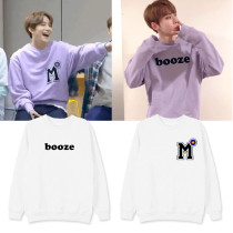 Kpop NCT 127 Sweater Ins same Round Neck Sweater Plus Velvet Thin Spring and Autumn Tops Jungwoo