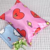 Kpop BTS Bangtan Boys Pillow case Single Pillow Pillow Cute Korean Two-piece Ice Silk Pillow case CHIMMY COOKY