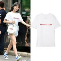 Kpop NCT JENO same T-shirt Fromis_9 Baek Jiheon Same Short-sleeved T-shirt
