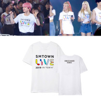 Kpop NCT T-shirt EXO Short Sleeve SMTOWN LIVE IN TOKYO Concert with the same Short-sleeved T-shirt