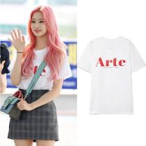 Kpop IZONE T-shirt Kim Min Ju Same Clothes Short-sleeved Korean Loose T-shirt