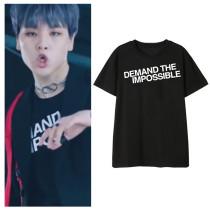 Kpop X1 T-shirt Dong Pyo Debut Album MV same Paragraph Short-sleeved T-shirt Fashion Printing Loose Bottoming Shirt