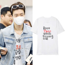 Kpop WINNER T-shirt Lee Seung Hoon with the Same Airport Street Shooting Short-sleeved Korean Loose Bottoming shirt T-shirt