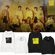 Kpop STRAY KIDS Sweater YELLOW WOOD With Hooded Sweater Korean Loose Sweater