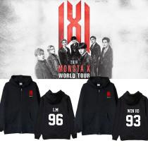 Kpop MONSTA X Sweater World Tour Concert Birthday Zipper sweater Hoodie Jacket