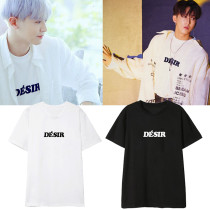 Kpop EXO T-shirt CHANYEOL STRAY KIDS Seo Chang-Bin Same Short-sleeved Korean Loose T-shirt