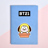 Kpop BTS Bangtan Boys Notebook Notepad New Cute Candy Color Student Diary CHIMMY COOOKY KOYA