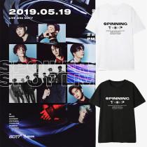 Kpop GOT7 T-shirt Album SPINNING TOP Same Short-sleeved Korean Loose T-shirt