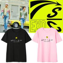 Kpop EXO T-shirt SC team ChanYeol SeHun album What a Life same short-sleeved T-shirt
