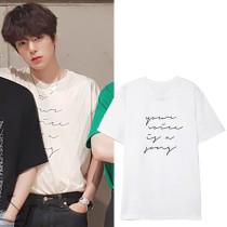 Kpop MONSTA X T-shirt Lee Min Hyuk With The Same Short-sleeved INS Korean Loose T-shirt