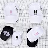 Kpop BTS Bangtan Boys Hat with Rivet Baseball Cap Casual Hat Peaked Cap