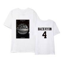 Kpop EXO T-shirt Same Korean Version of Loose Short-sleeved Top Shirt Shirt T-shirt