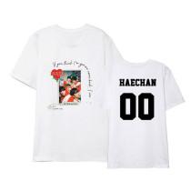 Kpop NCT U T-shirt Album TEN MARK Same Paragraph Short-sleeved Korean Loose T-shirt