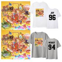 Kpop Red Velvet MINI4 ROOKIE With The Same Short-sleeved T-shirt Korean Loose Couple T-shirt