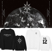 Kpop EXO Sweater Five Tour PLANET # 5 Concert With The Same Round Neck Sweater Thin Loose Top