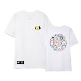 Kpop BTS T-shirt Bangtan Boys Same Clothes Korean Cartoon Cute Short-sleeved T-shirt Top