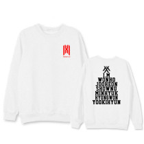 Kpop MONSTA X Sweatshirt World Tour Concert Around Birthday Round Collar Sweater Jacket