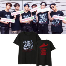 Kpop GOT7 T-shirt 2019 World Tour KEEP SPINNINGIN Concert Same Short Sleeve Loose T-shirt