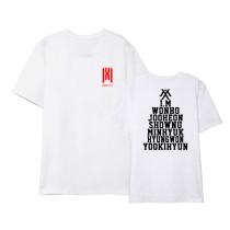 Kpop MONSTA X T-shirt World Tour Concert Short Sleeve Korean Loose T-Shirt