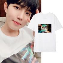 Kpop WANNA ONE T-shirt KIM JAE HWAN The Same Short-sleeved Loose Fashion Print T-shirt