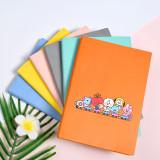 Kpop BTS Bangtan Boys Notebook New Cartoon Cute PU Imitation Leather Diary Student Supplies
