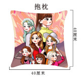 Kpop TWICE Pillow Case Hand-painted New Korean Simple Single Pillow Pillowcase Pillow Sofa Cushion Cover