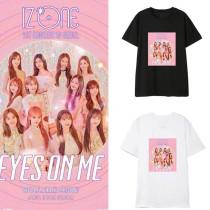 Kpop IZONE EYES ON MET Shirt With The Same Korean Short-sleeved Loose Base Shirt T-shirt Top